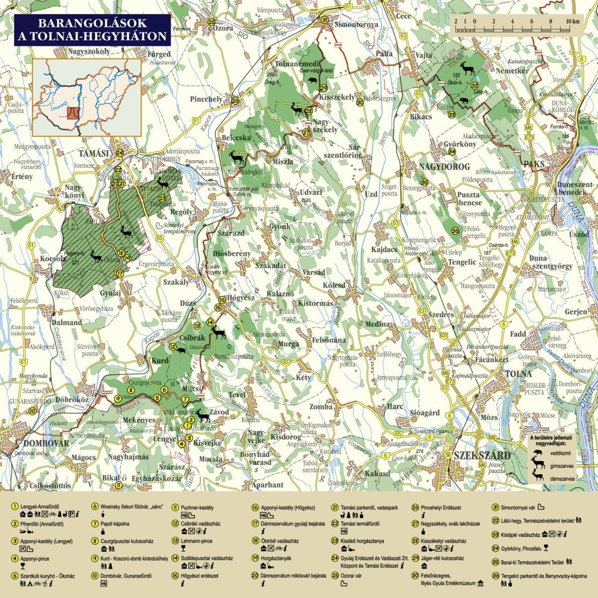 magyarország térkép tamási Látnivalók térképe | Gyulaj Zrt. magyarország térkép tamási